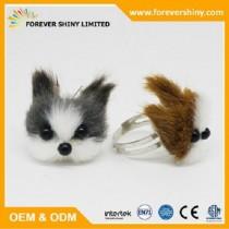 FA09-015 Furry puppy ring