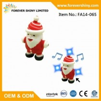 FA14-065 Santa Claus keychain with roar & LED