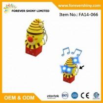 FA14-066 Clown keychain with roar & LED