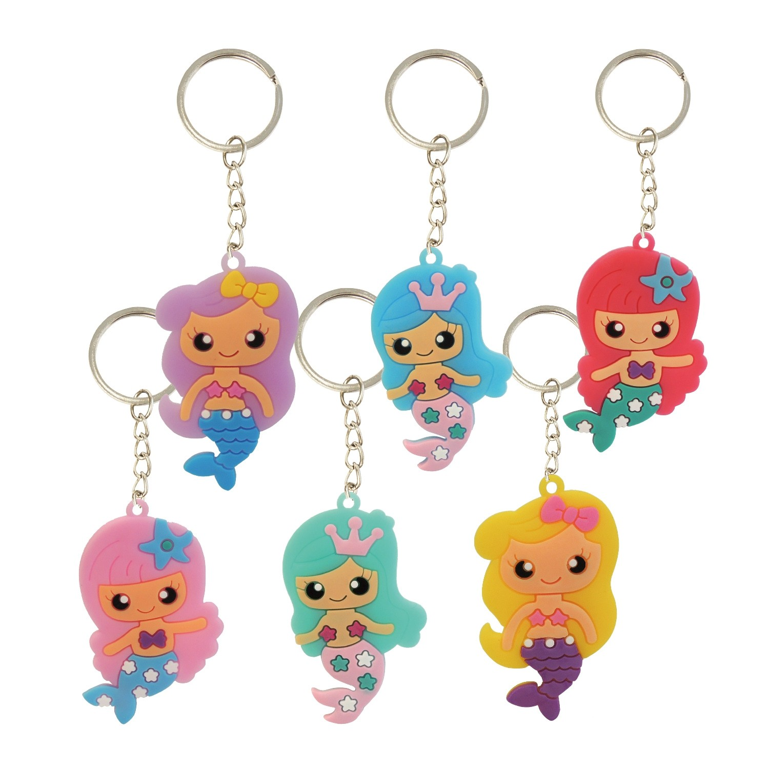 2D PVC Mermaid Keychain