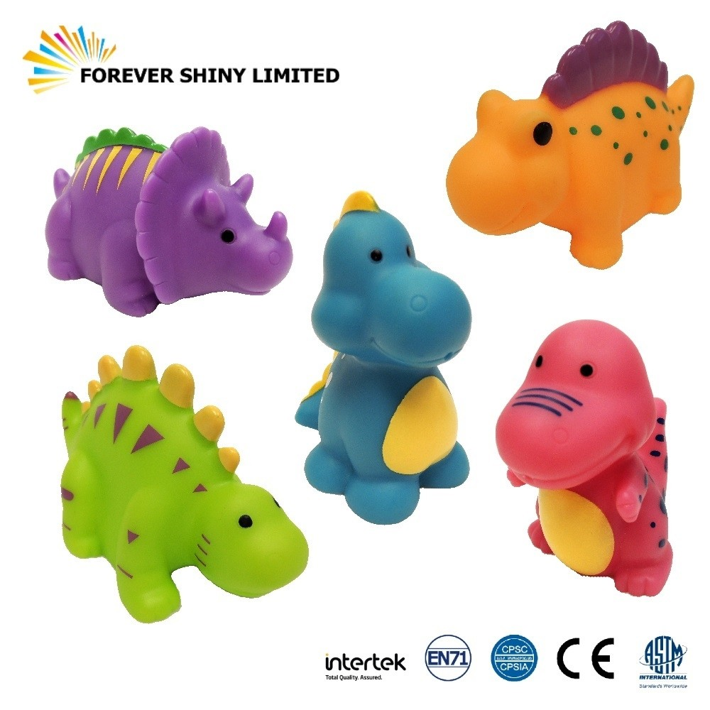 9cm Vinyl Dinosaurs Bathing Toy