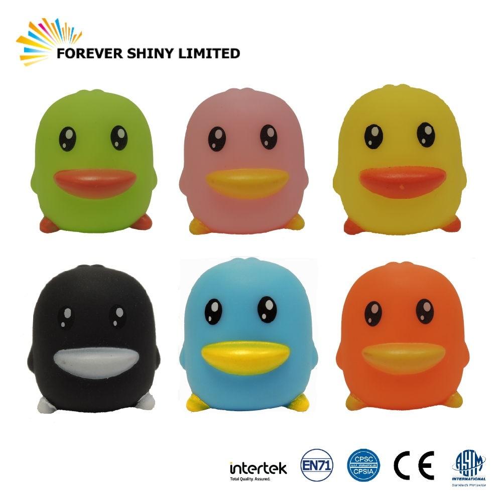 4.9cm 6 color Vinyl Duck Bathing Toy