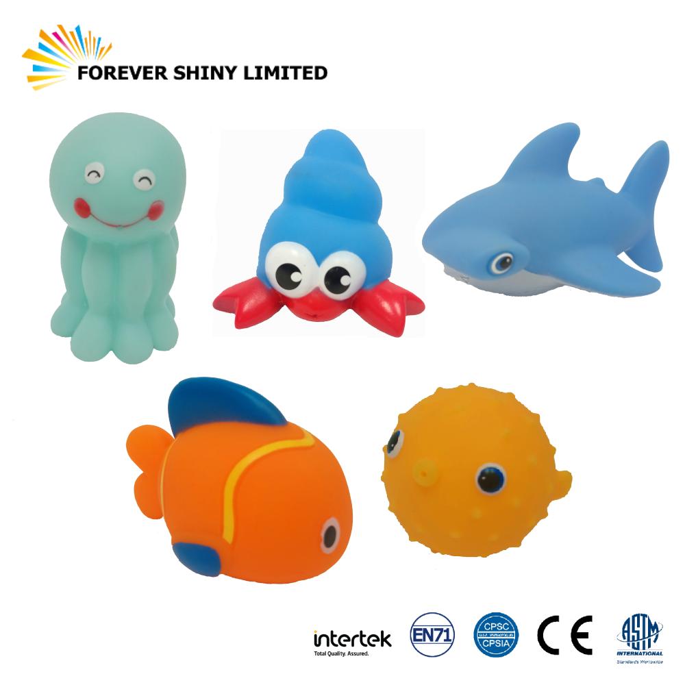 7.6cm Sea Animal Vinyl Bathing Toy
