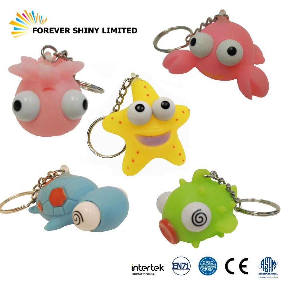 Eye Popper Sea Aninal with keychain