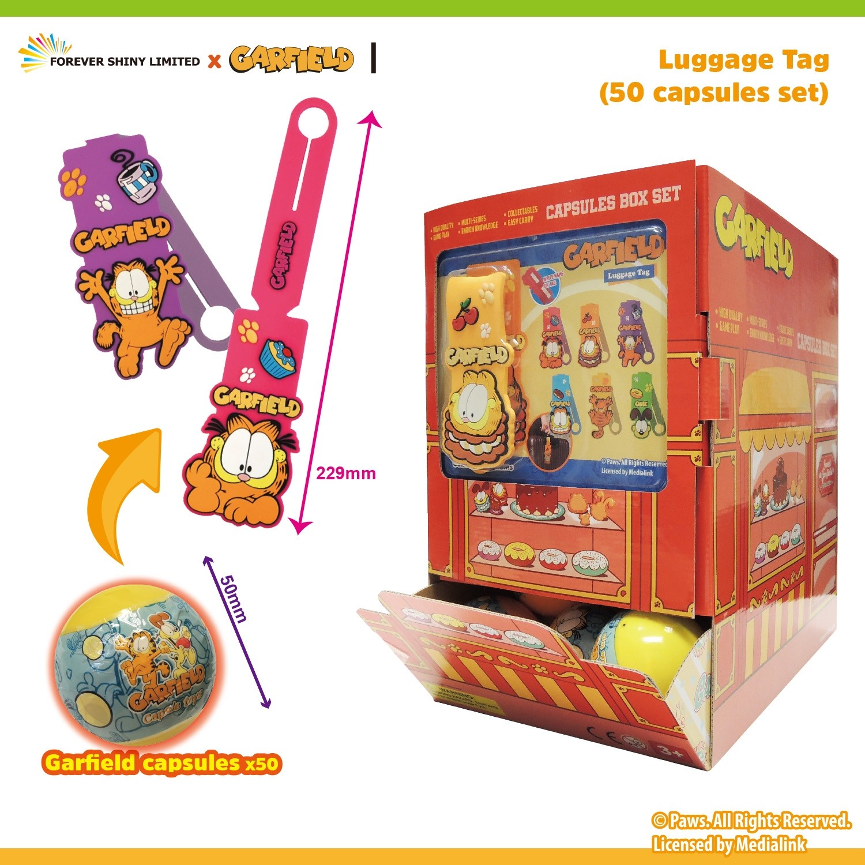 Garfield Luggage Tag (50 Capsules Set)