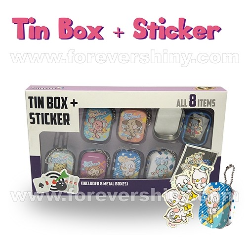 F-DMFTS1-B1 DMF tin box + 4 stickers