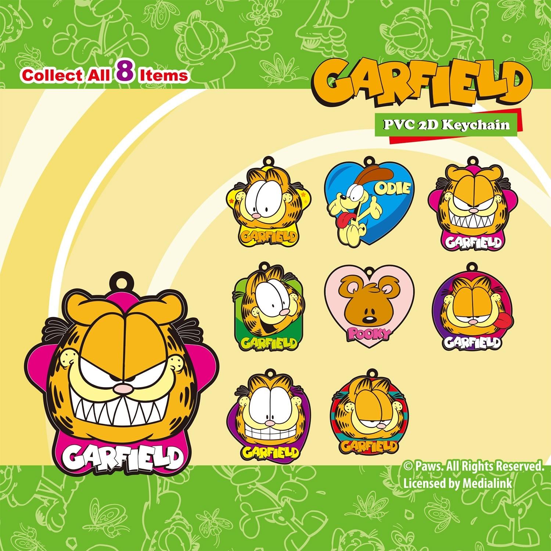 Garfield PVC 2D Keychain
