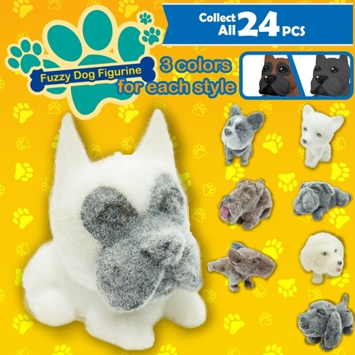 Fuzzy Dog Figurine