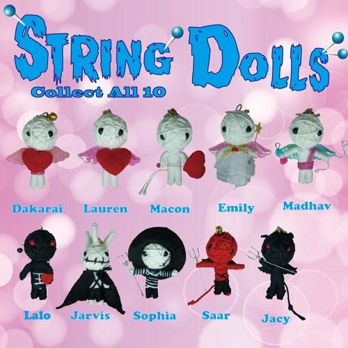 Handmade String doll Angel and Evil