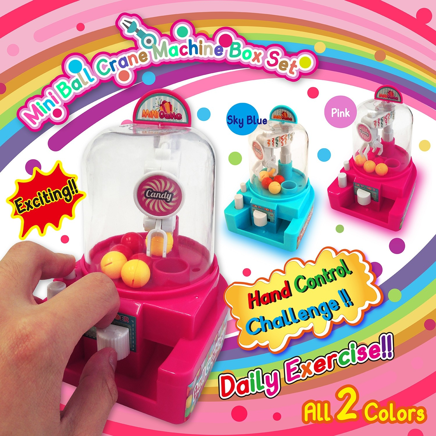 Mini Ball Crane Machine Box Set