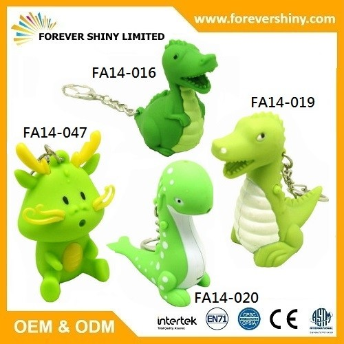 Dragon and Dinosaur Keychain
