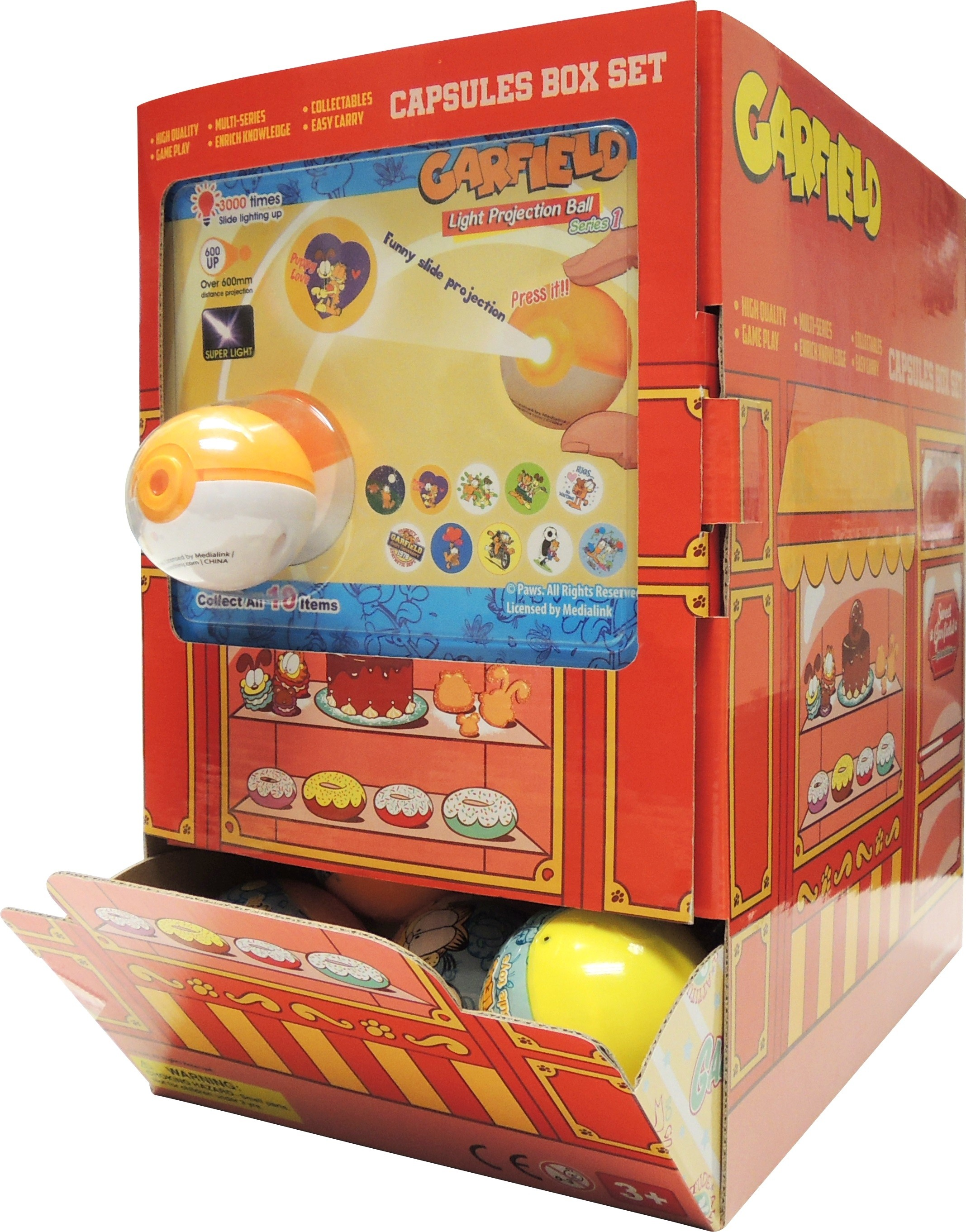 Garfield Projector Ball (50 Capsules Set)