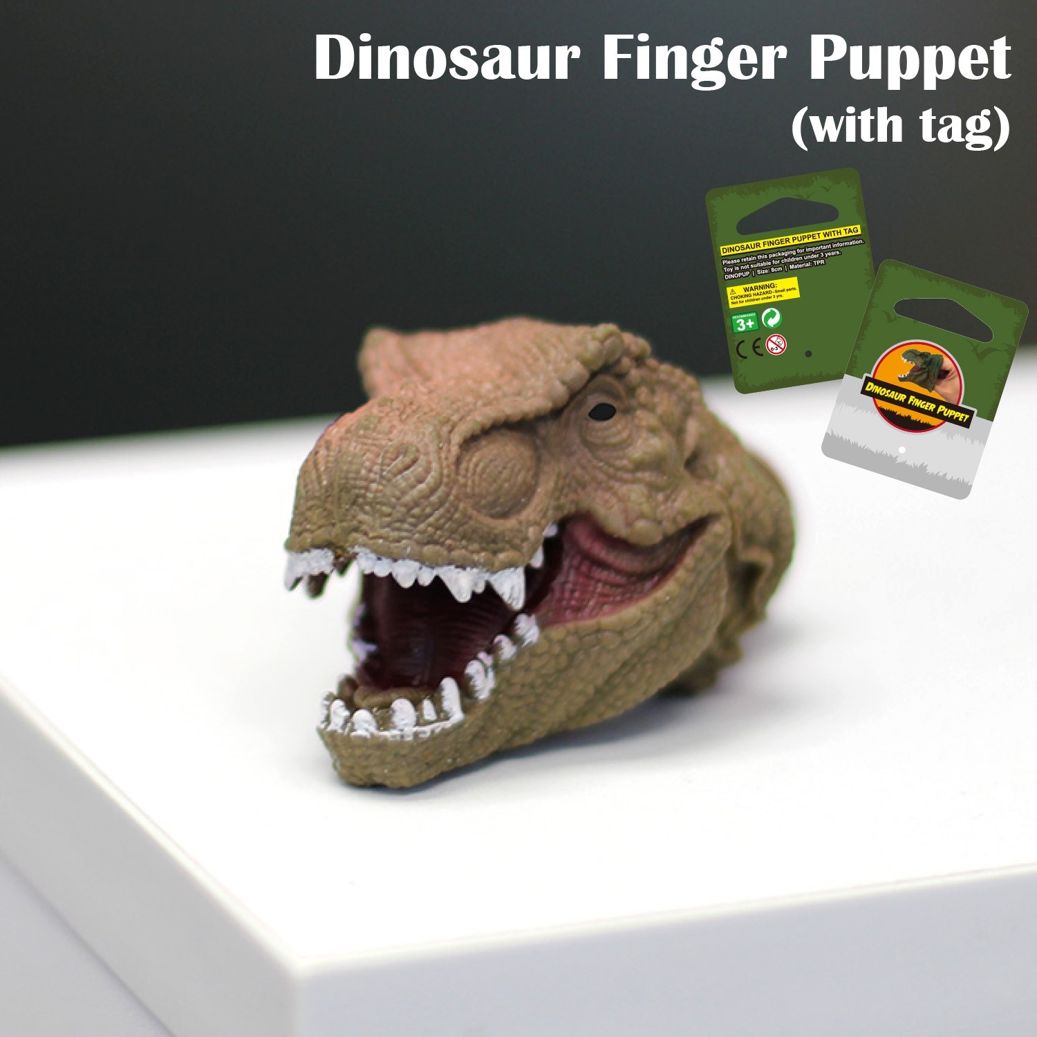 Dinosaur Finger Puppet With Tag