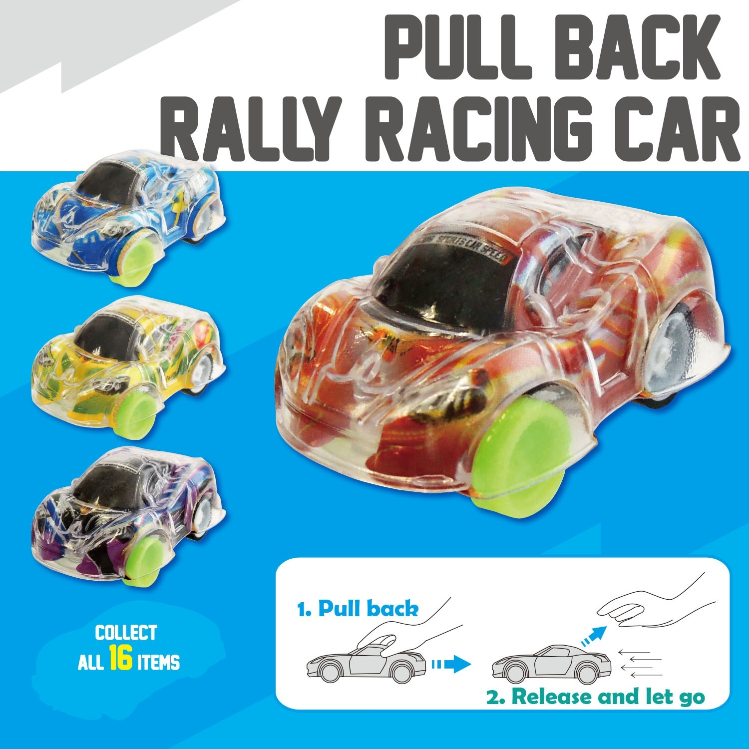 Pull Back Valley Racing Car