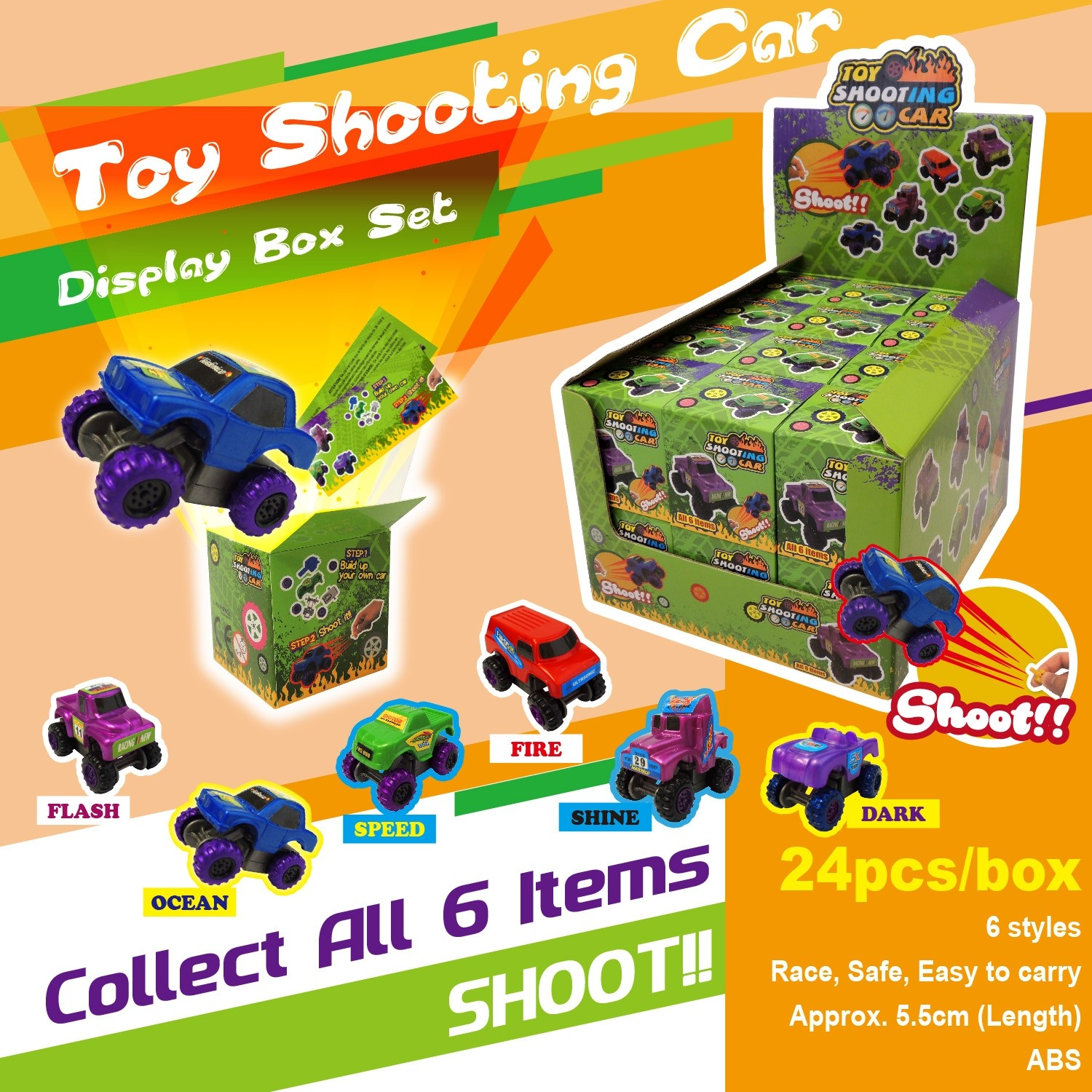Toy Shooting Car Display Box