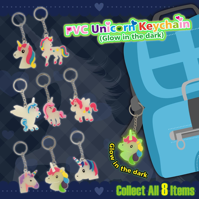 PVC Unicorn Keychain (Glow in the dark)