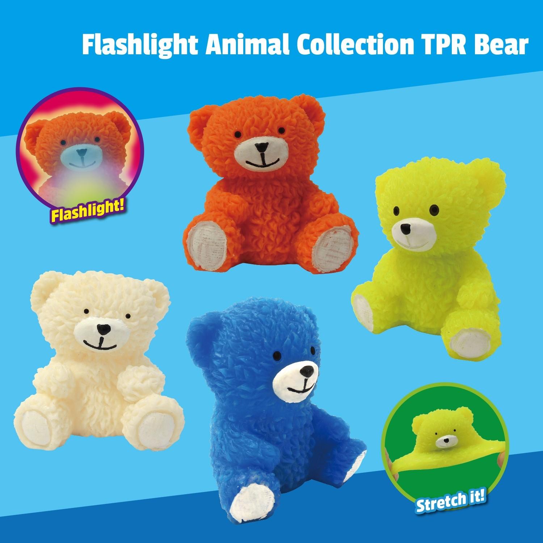 """Flashlight Animal Collection"" 7cm TPR Bear"