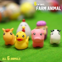 6cm Vinyl Farm Animal