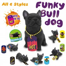 Funky Bull Dog With Metal Tag