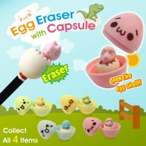 Egg Eraser with Capsule