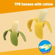 TPR banana with cotton