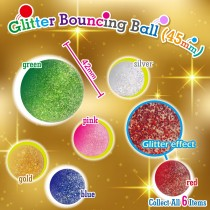 Glitter Bouncing Ball  45mm