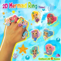 2D Mermaid Ring(16mm)