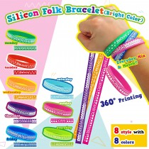 Silicon Folk Bracelet - Bright Color