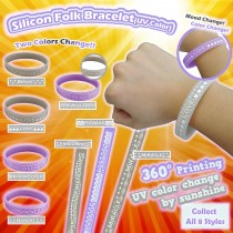 Silicon Folk Bracelet - UV color