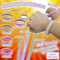 Silicon Folk Bracelet - UV color