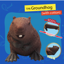 TPR Groundhog with cotton