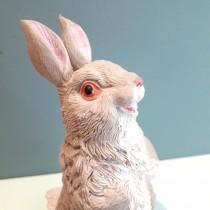 15cm TPR Rabbit With Cotton - gray