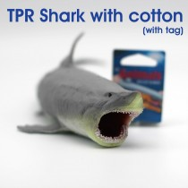 TPR Shark with cotton with tag