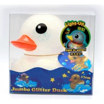 """Flashlight Animal Collection"" 17cm Glitter Duck Blister Set"